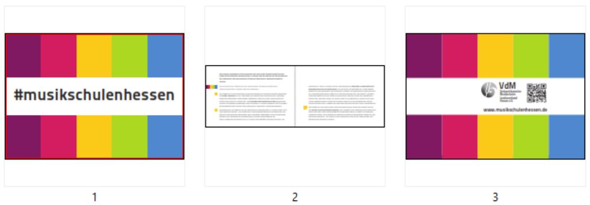 pdf mit drei Alternativen für einen E-Mail-Abbinder